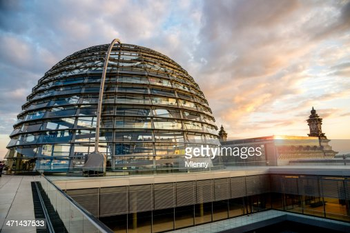 Berlin Reichstag Dome Sunset