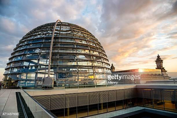 Berliner Reichstag Dome Sonnenuntergang