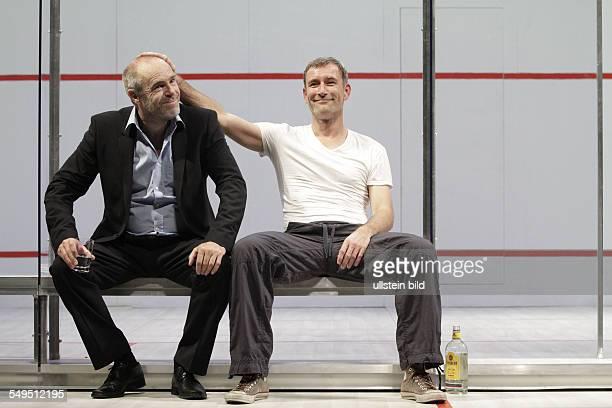 'Betrayal' by Harold Pinter actor Heikko Deutschmann as Jerry and Peter Kremer as Robert