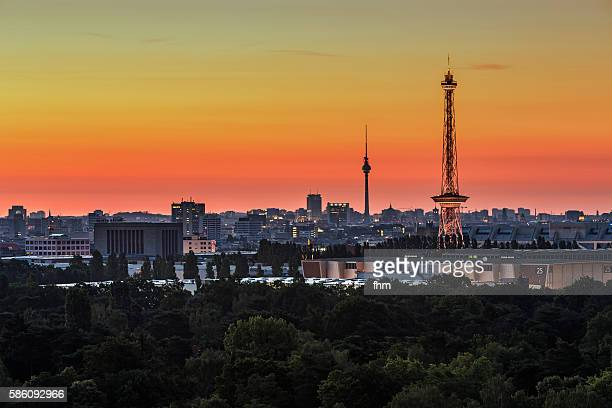 Berlin skyline at sunrise