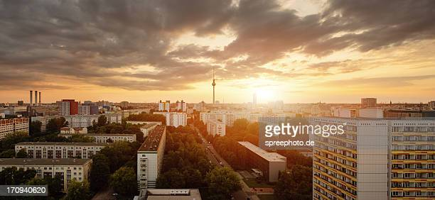 Berlin Skyline at Sunset with Fernsehturm