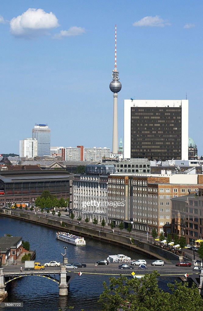 Berlin skyline, Germany : Stock Photo