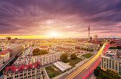 Berlin Skyline Panorama with Sunset