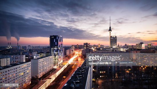 berlin skyline stock photo getty images. Black Bedroom Furniture Sets. Home Design Ideas