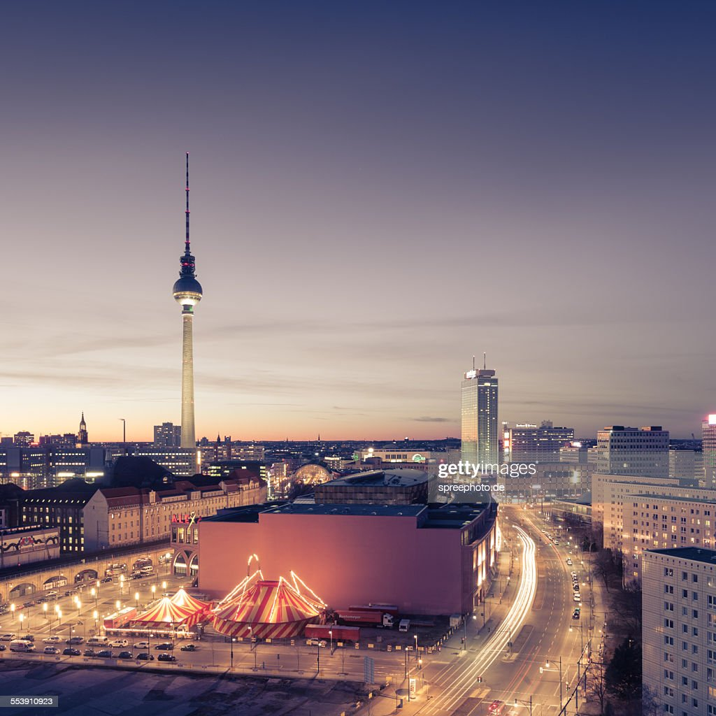 Berlin skyline with fernsehturm