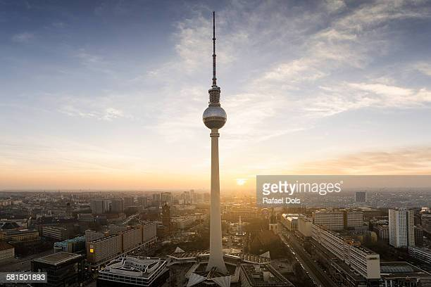 Berlin - skyline with tv tower