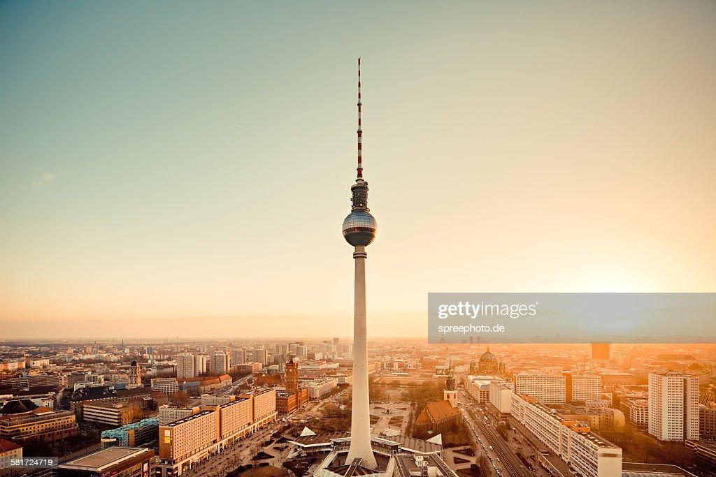 Berlin skyline with Tv Tower, (Fernsehturm)