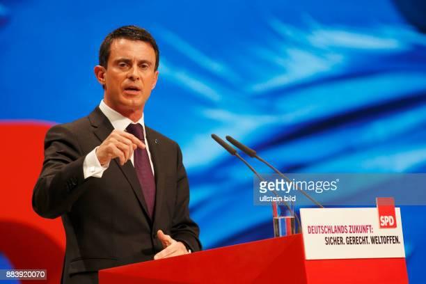 GER Berlin SPD Bundesparteitag 2015 in Berlin Sozialdemokratische partei Deutschlands vom 10 im CityCube Berlin mit Manuel Valls Premierminister der...