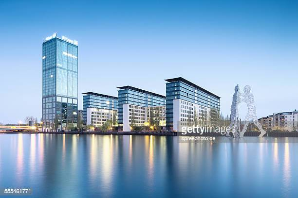 Berlin spree river with Allianz Tower