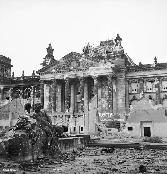 The Capture And Aftermath Of War 19451947 The Reichstag after the allied bombing of Berlin 3 June 1945