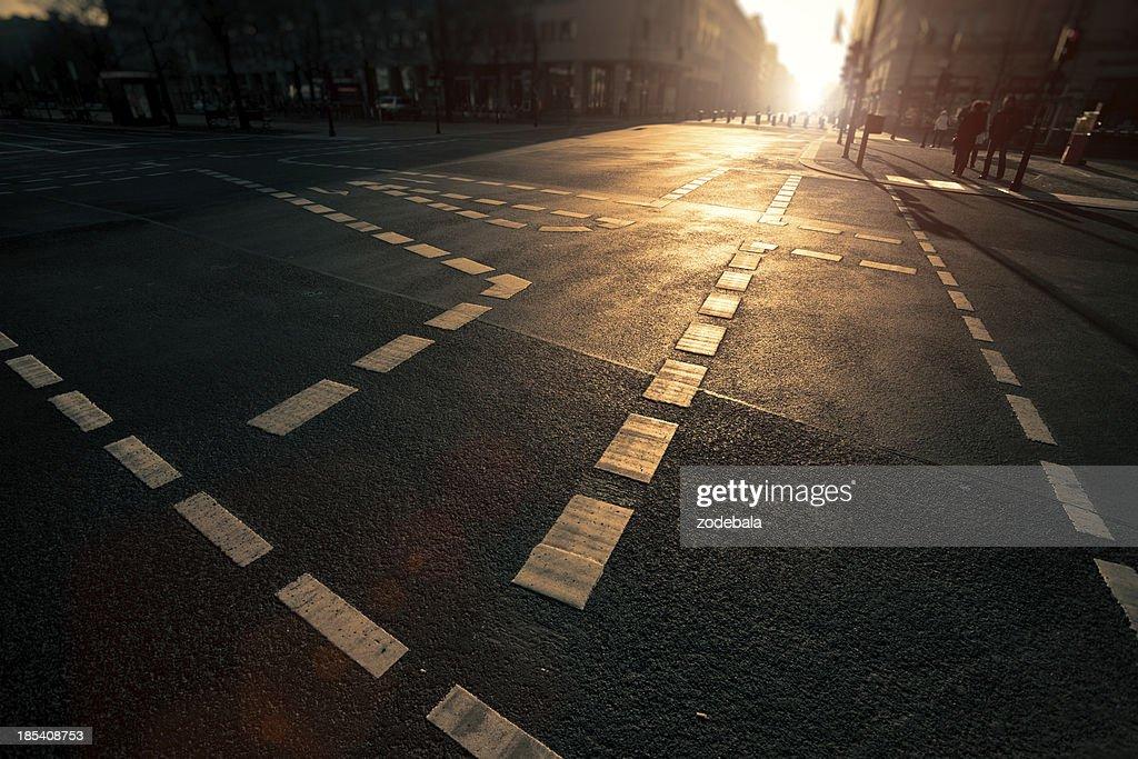 Berlin Urban Scene at Sunset : Stock Photo