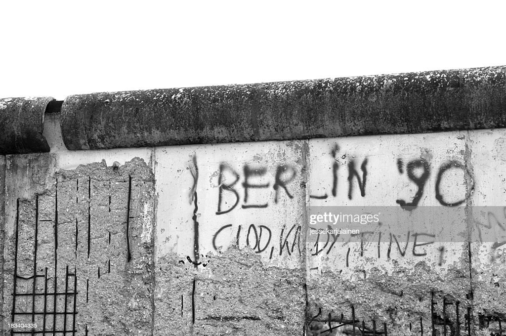 Berlin Wall Black and white : Stock Photo