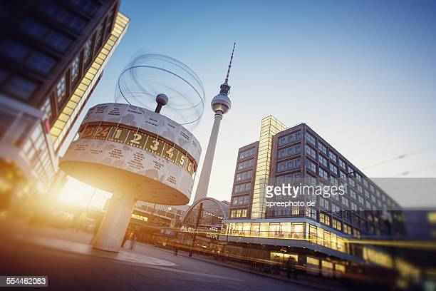 Berlin world clock with tv tower