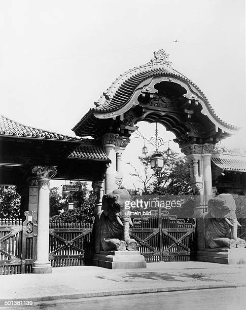 Berlin Zoological Garden The Elephant Gate is one of the entrances to the zoo around 1905