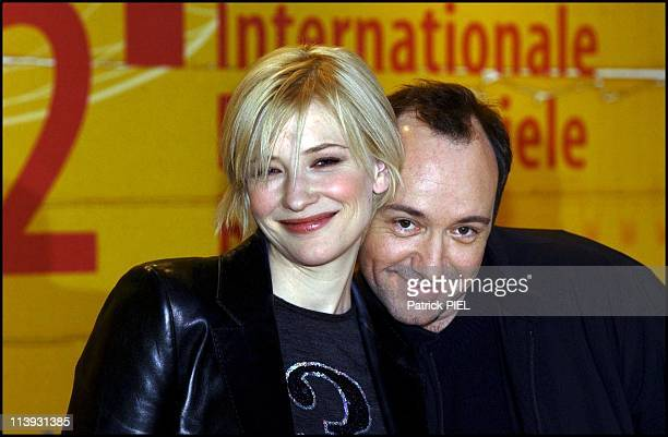 Berlinale 2002 The Shipping News By Lasse Hallstrom In Berlin Germany On February 11 2002Cate Blanchette And Kevin Spacey
