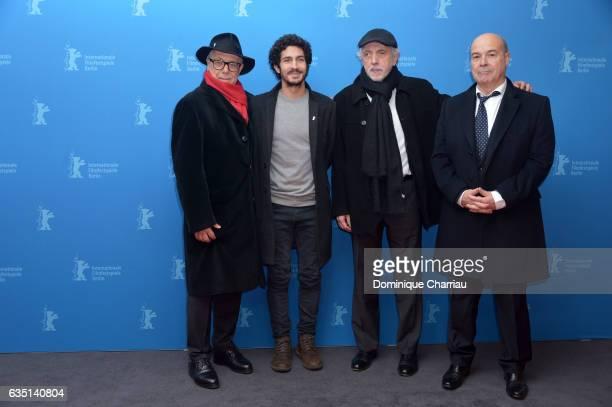 Berlinale Director Dieter Kosslick actor Chino Darin director Fernando Trueba and actor Antonio Resines attend the 'The Queen of Spain' premiere...