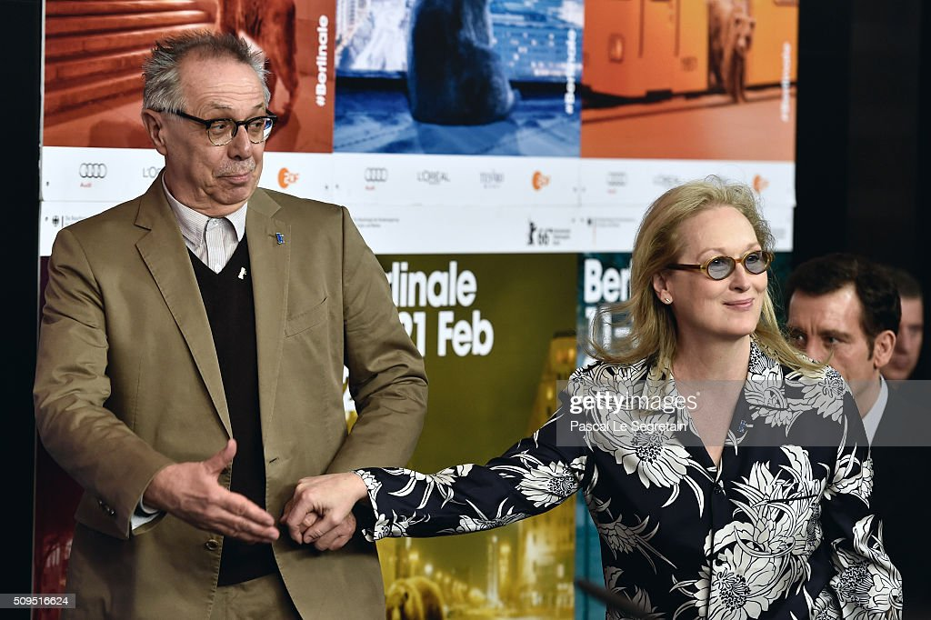 Berlinale Festival Director <a gi-track='captionPersonalityLinkClicked' href=/galleries/search?phrase=Dieter+Kosslick&family=editorial&specificpeople=213030 ng-click='$event.stopPropagation()'>Dieter Kosslick</a> (L) and International Jury President <a gi-track='captionPersonalityLinkClicked' href=/galleries/search?phrase=Meryl+Streep&family=editorial&specificpeople=171097 ng-click='$event.stopPropagation()'>Meryl Streep</a> attend the International Jury press conference during the 66th Berlinale International Film Festival Berlin at Grand Hyatt Hotel on February 11, 2016 in Berlin, Germany.