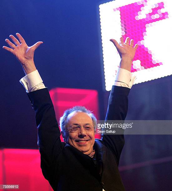 Berlinale festival director Dieter Kosslick waves on stage at the Golden Bear Award Ceremony of the 57th Berlin International Film Festival on...