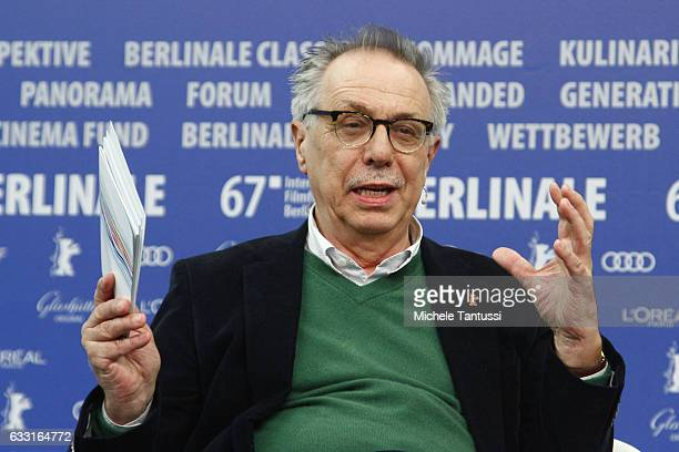 Berlinale Film Festival Director Dieter Kosslick speaks during the press conference to present the program of the 67th edition of the Berlinale Film...