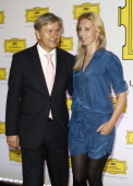 Berlin's mayor Klaus Wowereit and Jette Joop attend the Deutsche Grammophon reception at the Universial Music headquarters on September 2 2011 in...