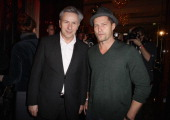 Berlin's mayor Klaus Wowereit and Til Schweiger attend the Medienboard Reception during day three of the 61st Berlin International Film Festival at...