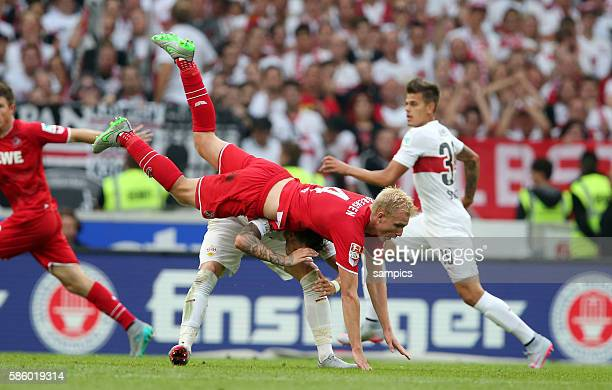 übermachtig Fredrik Sörensen Soerensen gegen Daniel Ginczek VfB Stuttgart VfB Stuttgart 1 FC Köln Koeln Fussball 1 Bundesliga Saison 2015 / 2016