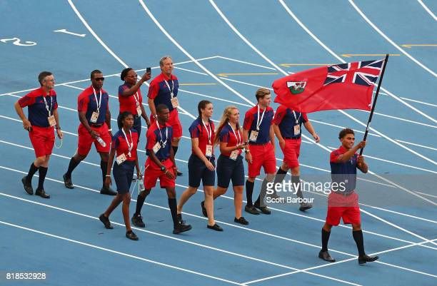 Bermuda parade on track during the 2017 Youth Commonwealth Games Opening Ceremony on day 1 of the 2017 Youth Commonwealth Games at the Thomas A...