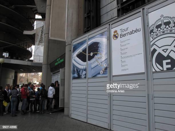Bernabeu Tour Entrance Santiago Bernabeu Stadium Madrid Spain