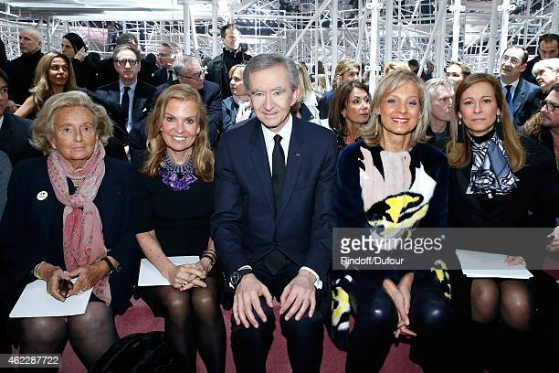 Bernadette Chirac Ambassador of USA in France Jane D Hartley Owner of LVMH Luxury Group Bernard Arnault his wife Helene Arnault and Violonist Anne...