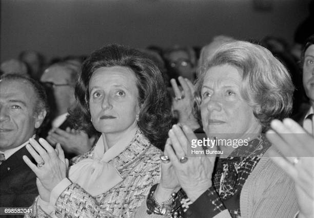 Bernadette Chirac attends a symposium in which her husband Jacques Chirac is participating Poitiers France 12th April 1975