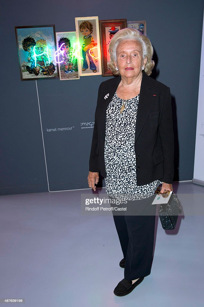 Bernadette Chirac attends the Auction Dinner to Benefit 'Institiut Imagine' on September 10, 2015 in Paris, France.