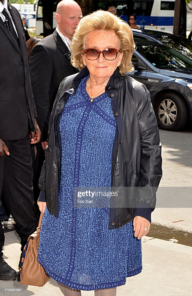 Bernadette Chirac attends the Chanel show as part of Paris Fashion Week Haute-Couture Fall/Winter 2013-2014 at the Grand Palais on July 2, 2013 in Paris, France.