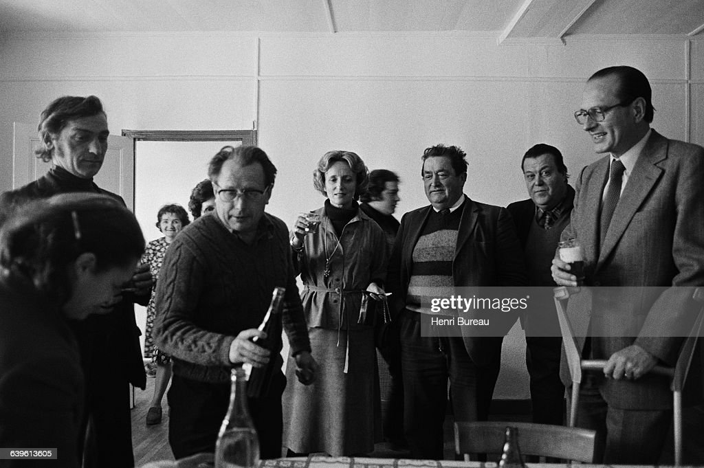 Bernadette Chirac during her campaign for a local election in Correze departement assisted by her husband Jacques Chirac