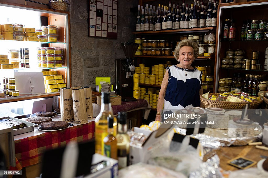 Bernadette Chirac, former first lady to President Jacques Chirac is photographed for Paris Match on July 8, 2016 in Meymac, France.