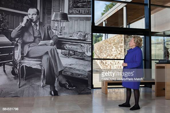 Bernadette Chirac former first lady to President Jacques Chirac is photographed for Paris Match on July 8 2016 in Meymac France