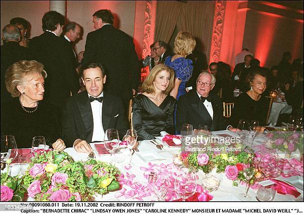 Bernadette Chirac 'Lindsay Owen Jones' 'Caroline Kennedy' Mr and Mrs 'Michel David Weill' 'Jacqueline Kennedy' exhibition Les Annees Maison Blanche...