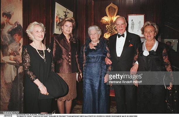 Bernadette Chirac The Countess of Paris Ghislaine De Polignac at theGala Dinner In Aid of Des Oeuvres D L'Ordre Souverain De Malte Au Liban