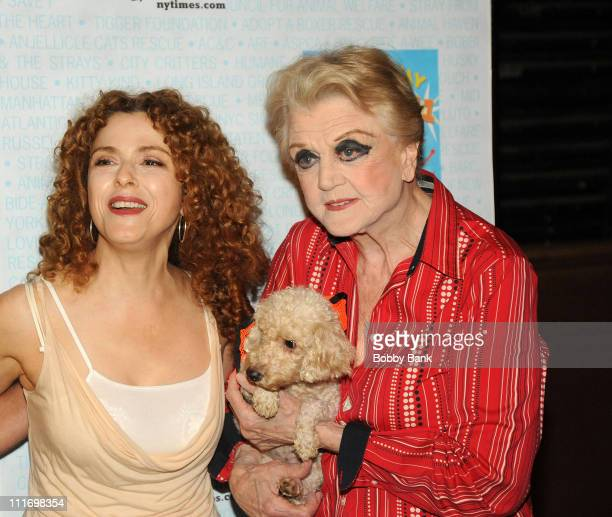 Bernadette Peters and Angela Lansbury attends the 11th Annual Broadway Barks in Shubert Alley on July 11 2009 in New York City