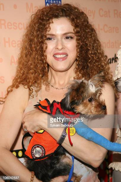 Bernadette Peters and dog Molly during Broadway Barks 8 at Shubert Alley in New York NY United States