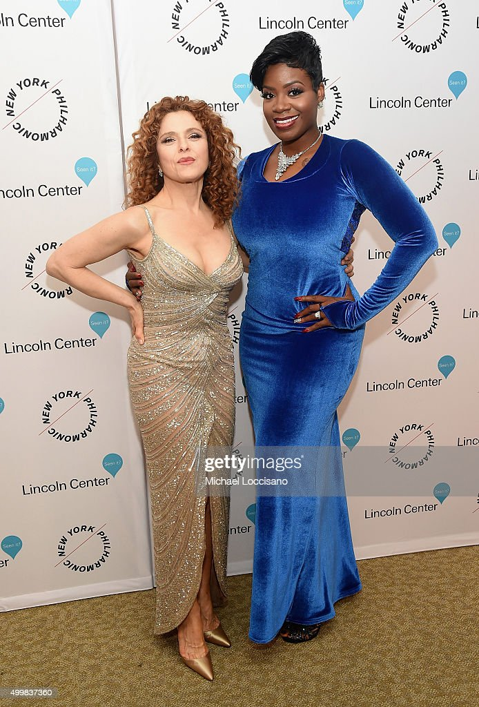 Bernadette Peters and Fantasia Barrino attend Sinatra Voice for A Century Event at David Geffen Hall on December 3, 2015 in New York City.