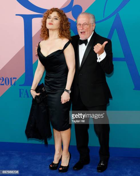 Bernadette Peters and Stan Herman attend the 2017 CFDA Fashion Awards at Hammerstein Ballroom on June 5 2017 in New York City
