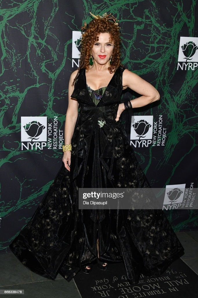 Bernadette Peters attends Bette Midler's 2017 Hulaween event benefiting the New York Restoration Project at Cathedral of St. John the Divine on October 30, 2017 in New York City.
