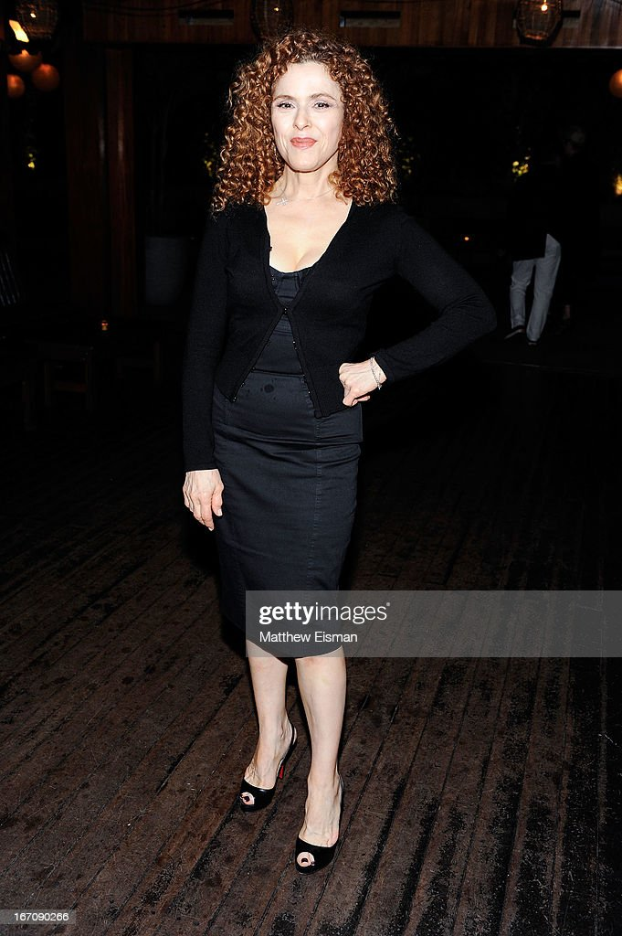 <a gi-track='captionPersonalityLinkClicked' href=/galleries/search?phrase=Bernadette+Peters&family=editorial&specificpeople=203332 ng-click='$event.stopPropagation()'>Bernadette Peters</a> attends the 'Elaine Stritch: Shoot Me' after party during the 2013 Tribeca Film Festival at Maritime Hotel on April 19, 2013 in New York City.