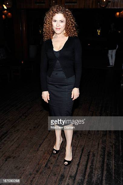 Bernadette Peters attends the 'Elaine Stritch Shoot Me' after party during the 2013 Tribeca Film Festival at Maritime Hotel on April 19 2013 in New...