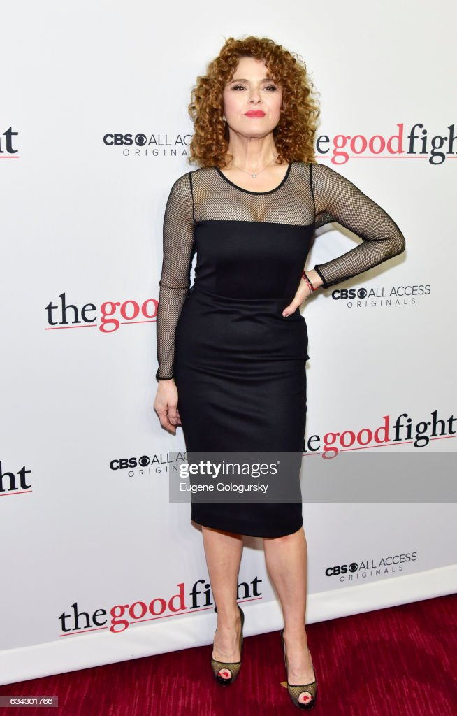 Bernadette Peters attends 'The Good Fight' world premiere at Jazz at Lincoln Center on February 8, 2017 in New York City.