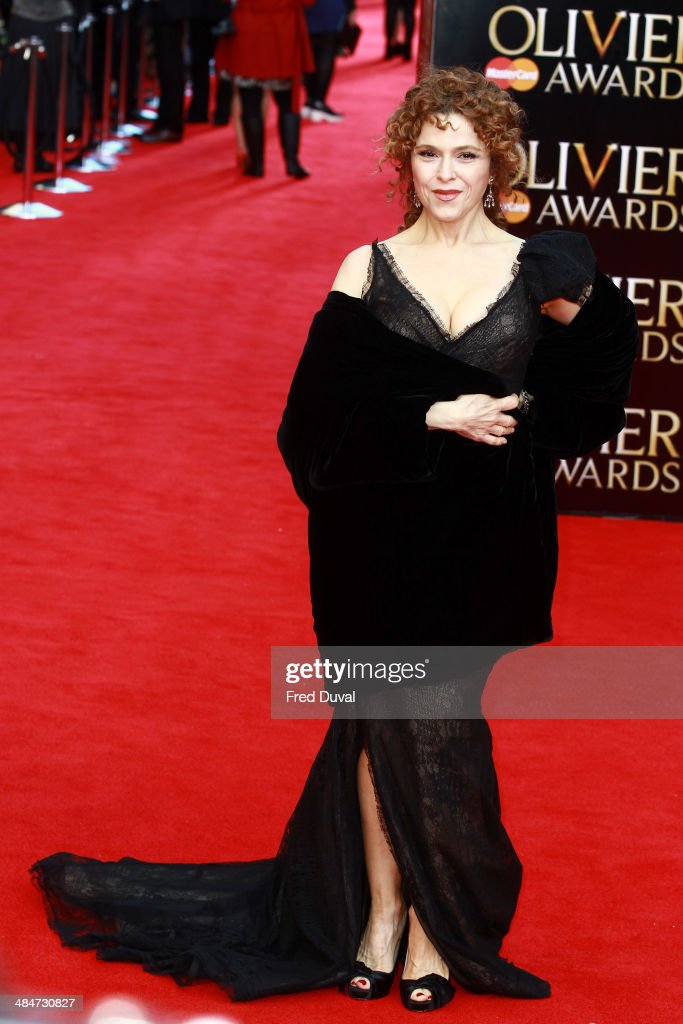 <a gi-track='captionPersonalityLinkClicked' href=/galleries/search?phrase=Bernadette+Peters&family=editorial&specificpeople=203332 ng-click='$event.stopPropagation()'>Bernadette Peters</a> attends The Laurence Olivier Awards with MasterCard at The Royal Opera House on April 13, 2014 in London, England.