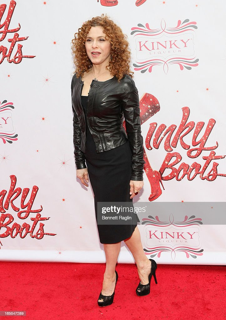Bernadette Peters attends the Media Opening for Kinky Boots on Broadway, 'KinkyBway', at the Al Hirschfeld Theatre on April 4, 2013 in New York City.