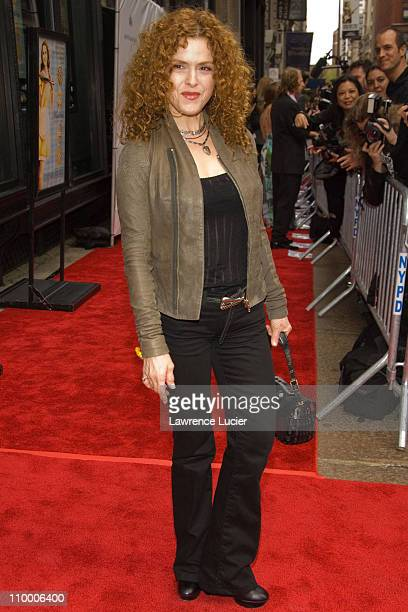 Bernadette Peters during 6th Annual Tribeca Film Festival Premiere of Waitress Red Carpet at AMC Loews Theater in New York City New York United States