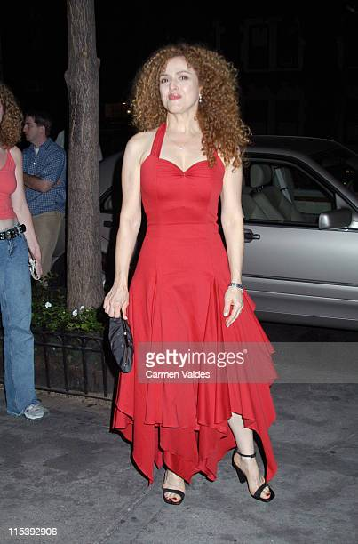 Bernadette Peters during MercedesBenz Fashion Week Spring Collections 2003 Narciso Rodriguez Fashion Show Arrivals in New York City New York United...
