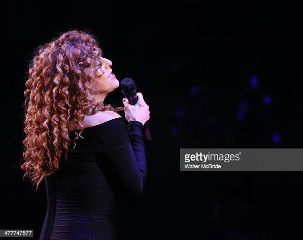 Bernadette Peters during the presentation for the Roundabout Theatre Company's 2014 Spring Gala celebrating Sam Mendes at Hammerstein Ballroom on...